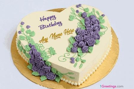 Happy Birthday Heart Cakes With Name Free Download