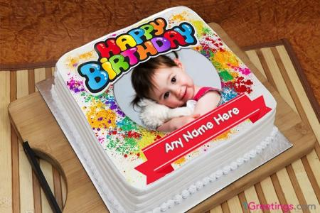 Amazing Happy Birthday Cake With Name And Photo Edit