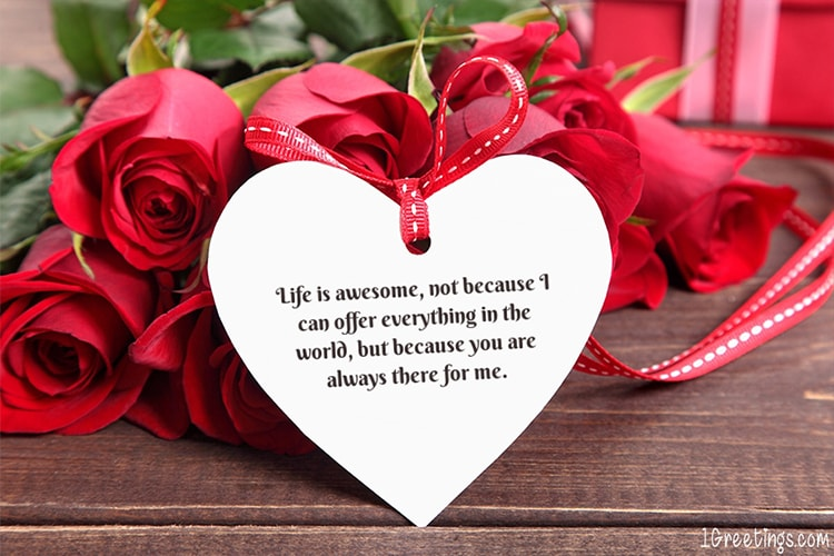 Beautiful Rose Love Greeting Wishes Card Online Free