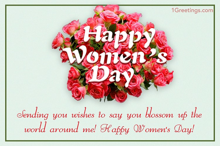 Free 8 March Happy Women's Day Wishes Cards